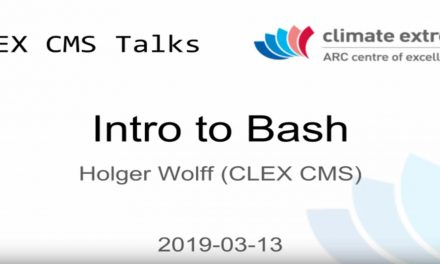 CMS talks: Introduction to Bash – Part 1